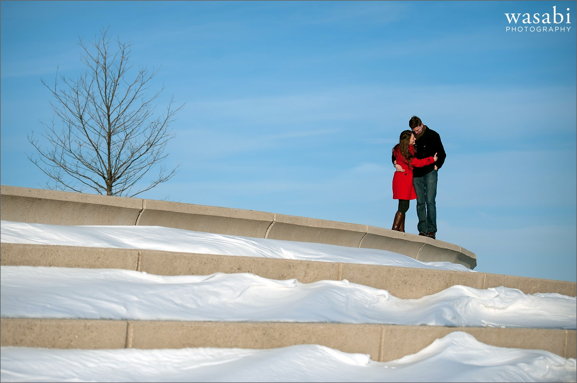 07 Belmont harbor winter engagement photos
