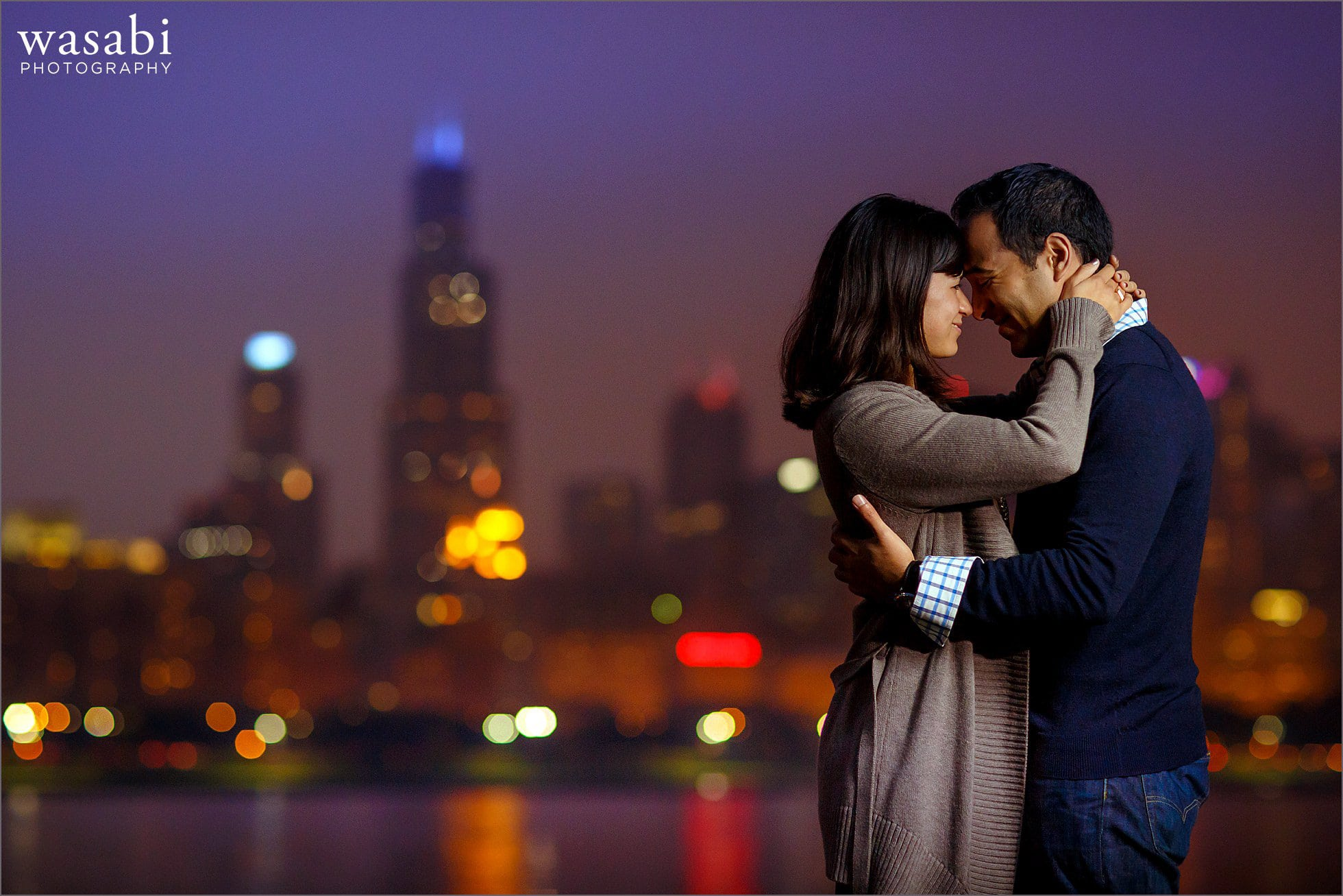 adler-planetarium-night-engagement-photos-11