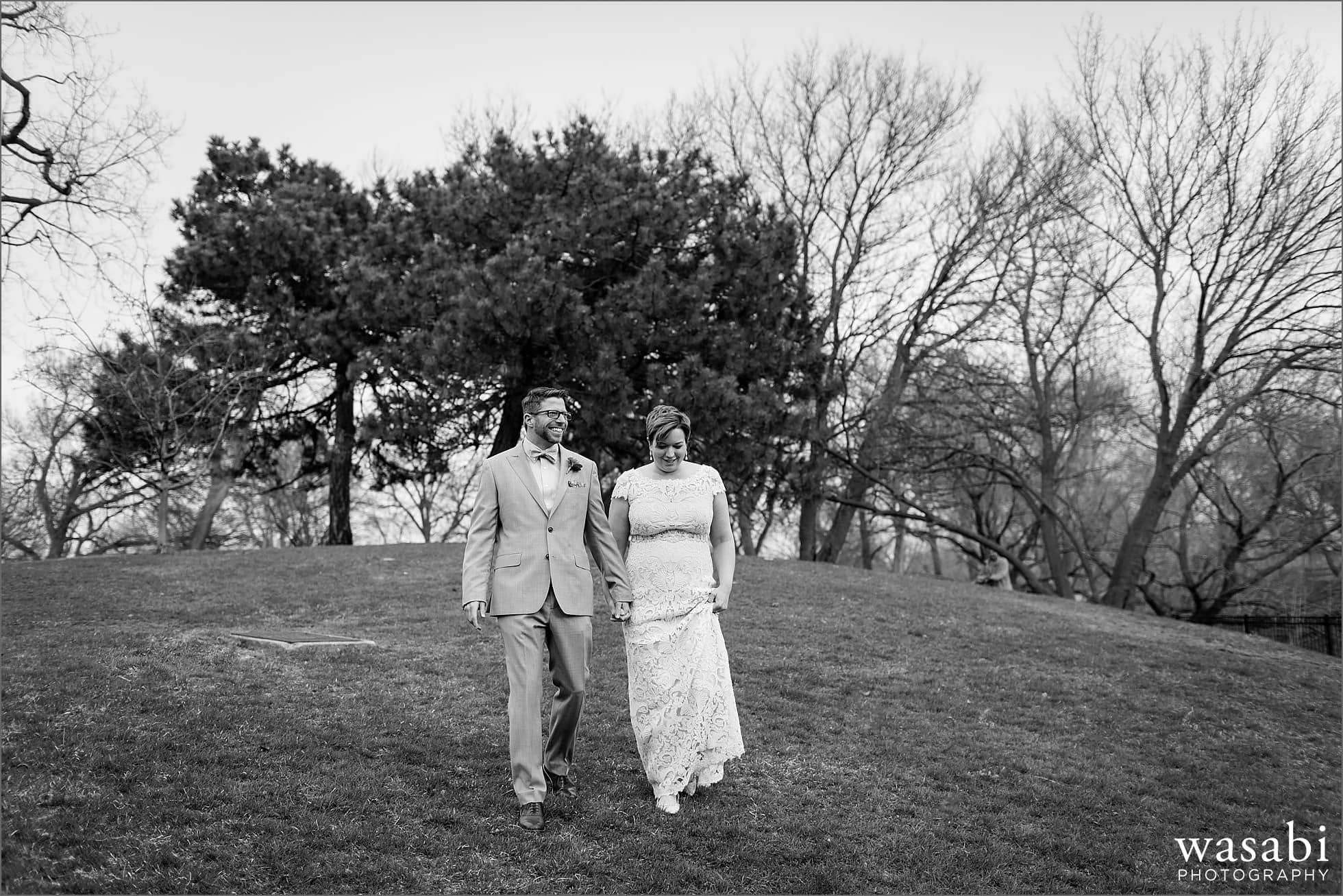north pond wedding photos