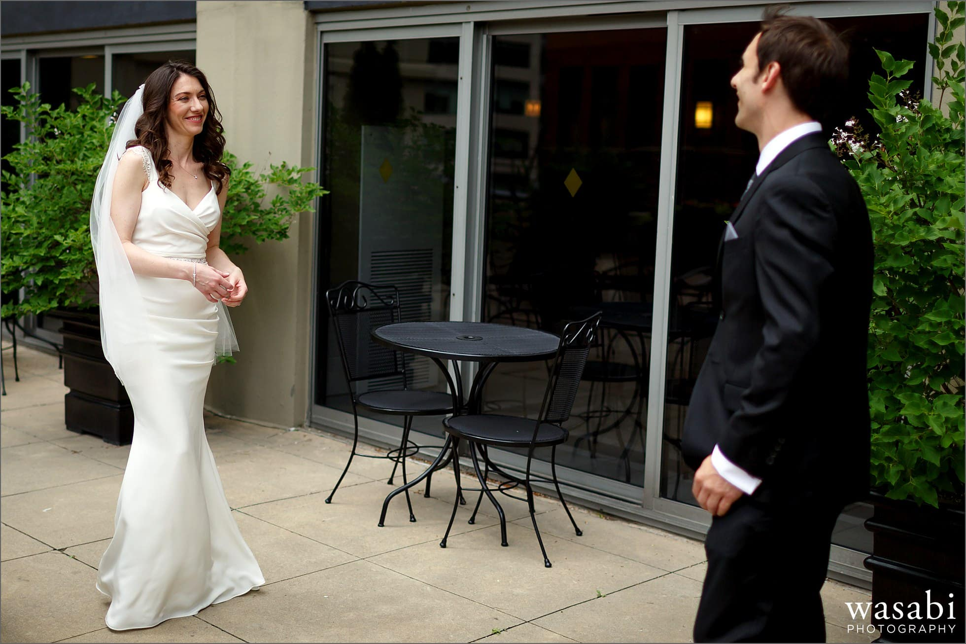river north marriott wedding photos