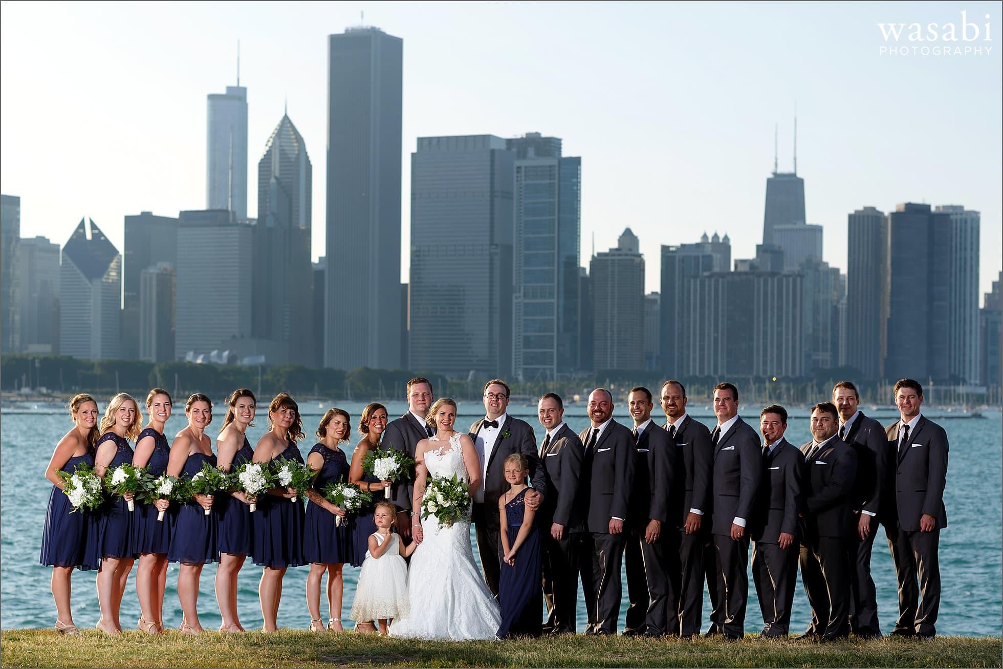 adler planetarium wedding party photos