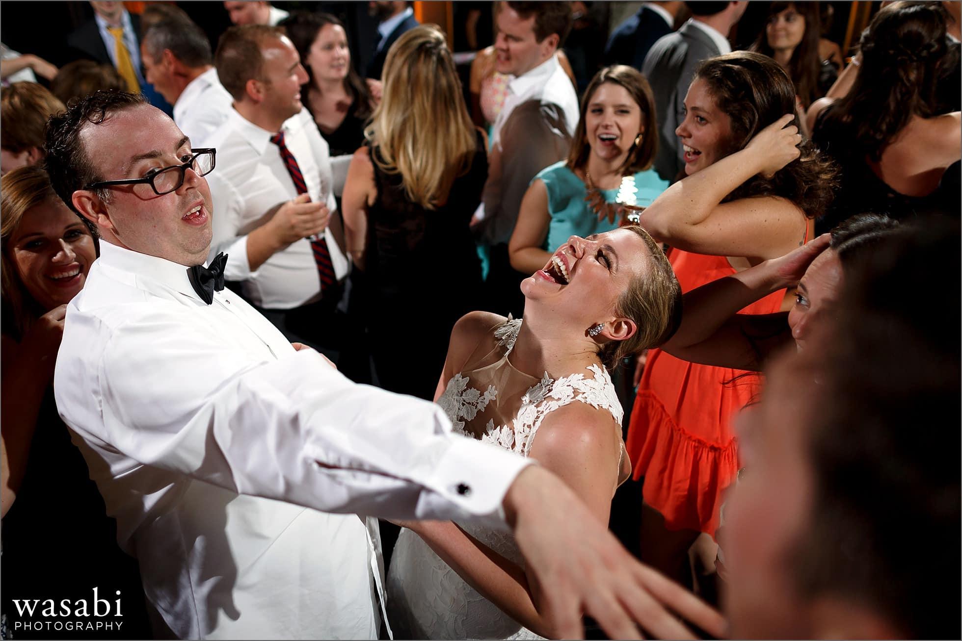 adler planetarium wedding reception dancing photos