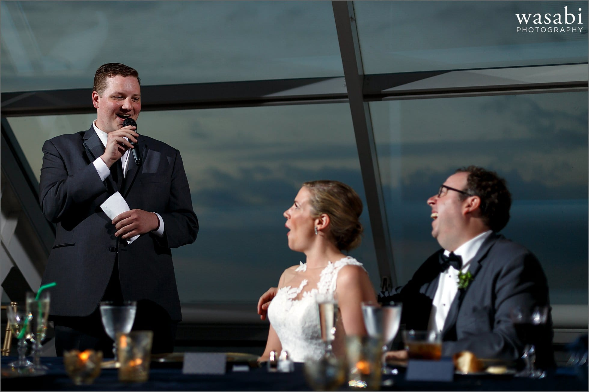 adler planetarium wedding reception photos