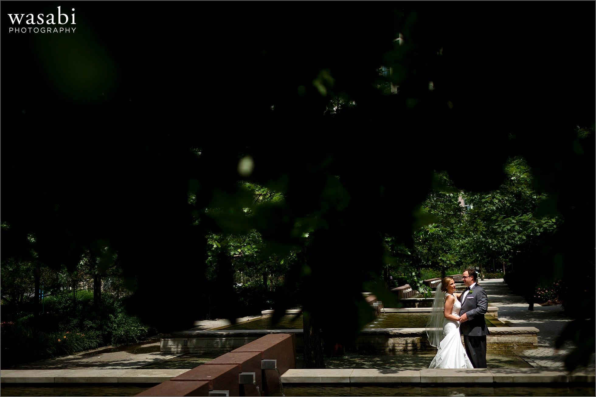 lakeshore east park chicago wedding photos