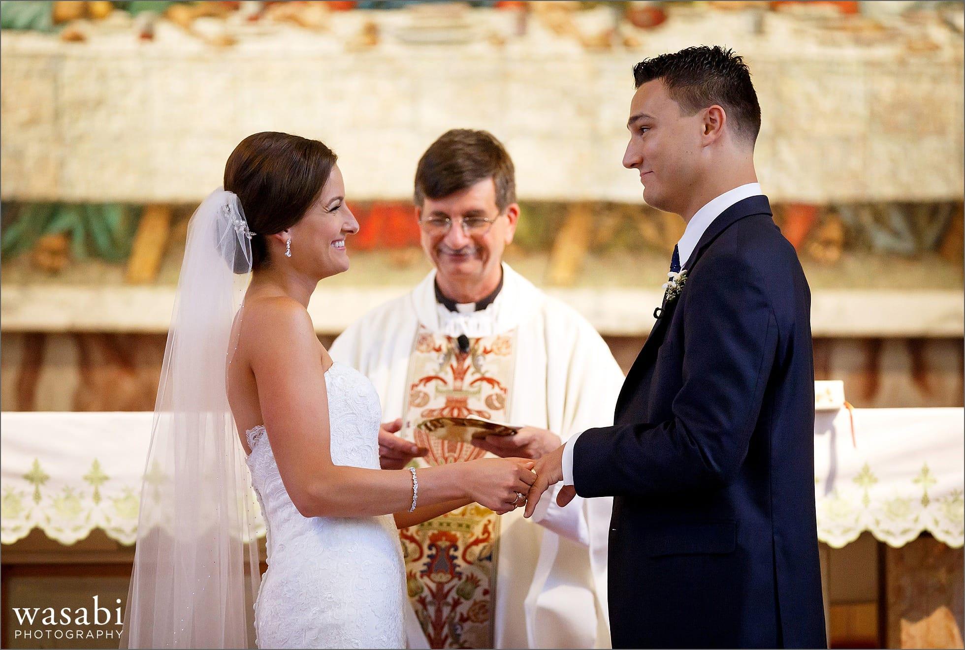 assumption catholic church wedding photos