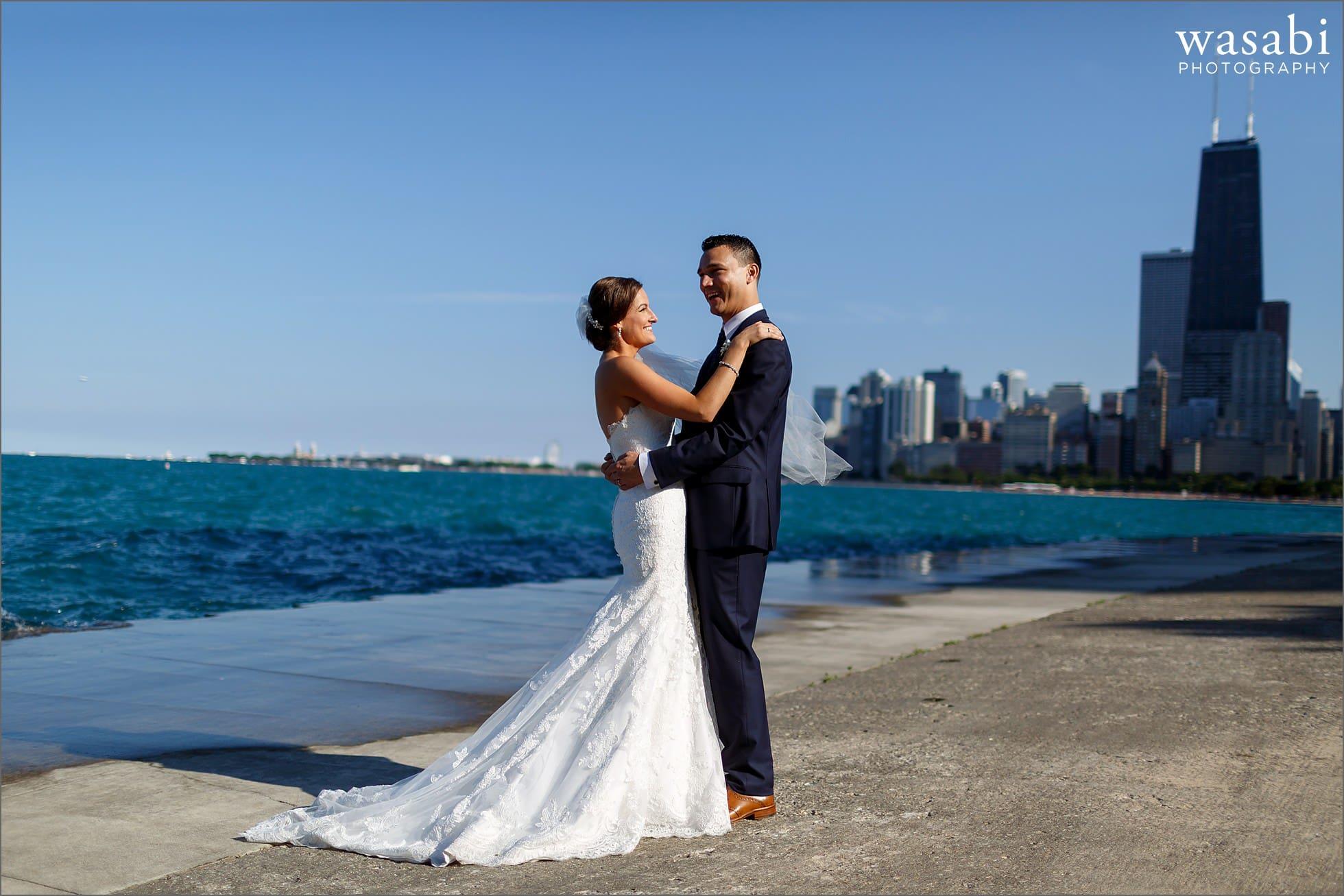 north ave beach wedding photos