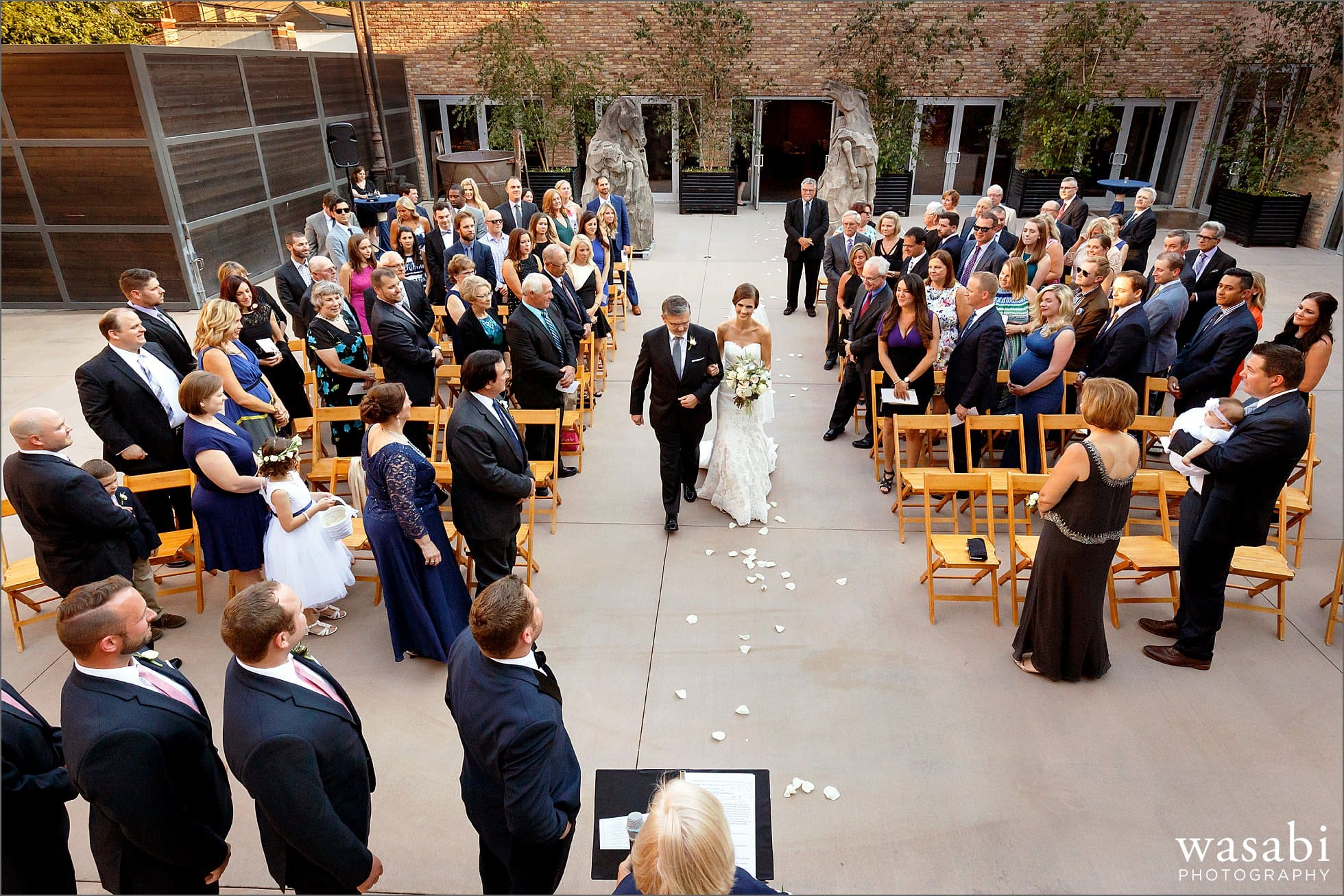 architectural artifacts outdoor wedding ceremony