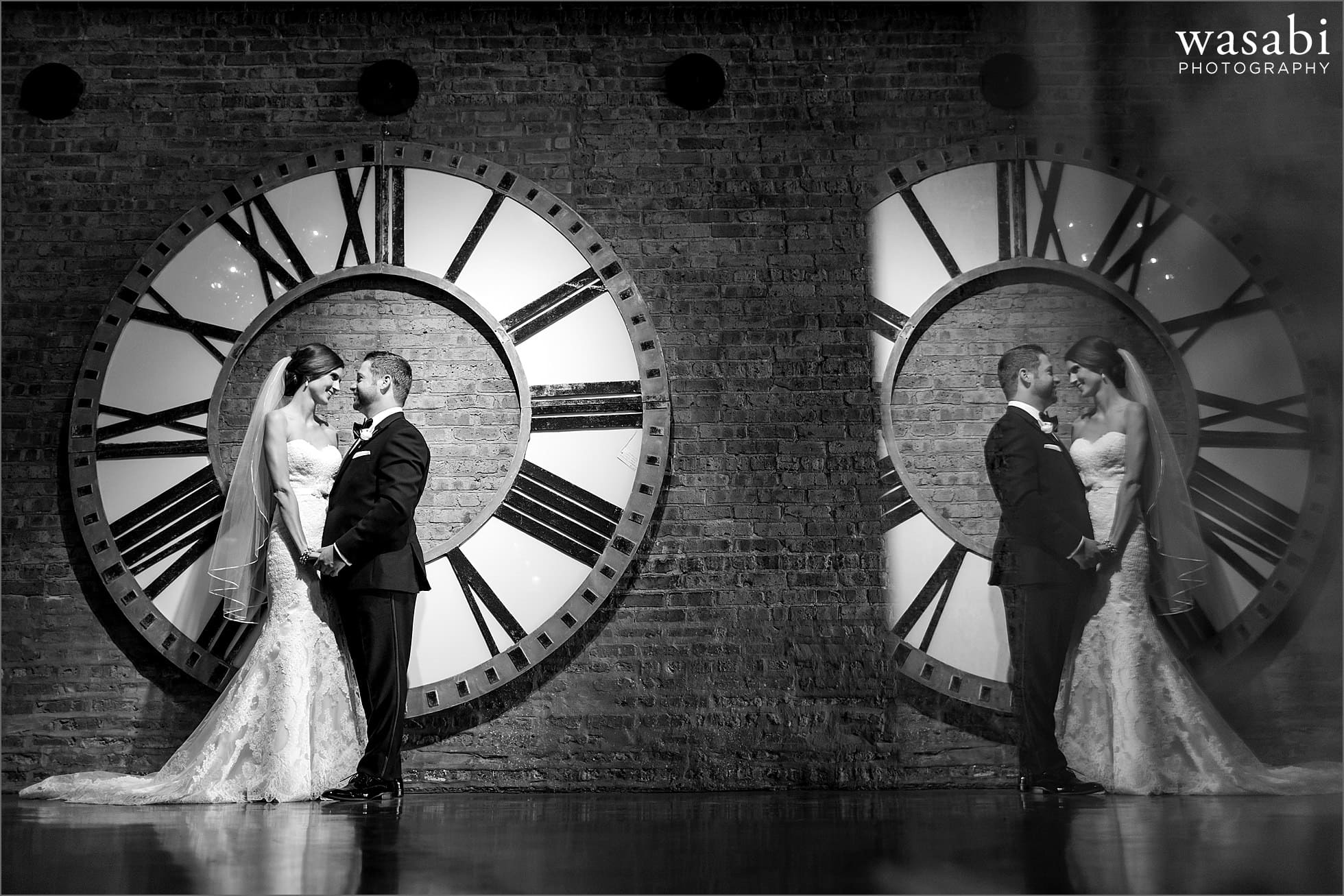 architectural artifacts wedding clock portrait