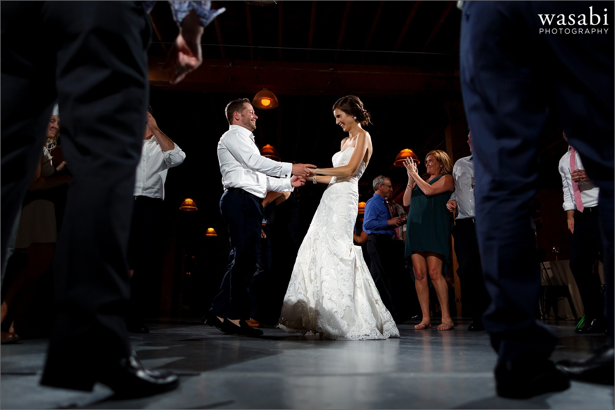 dancing during reception at architectural artifacts wedding chicago