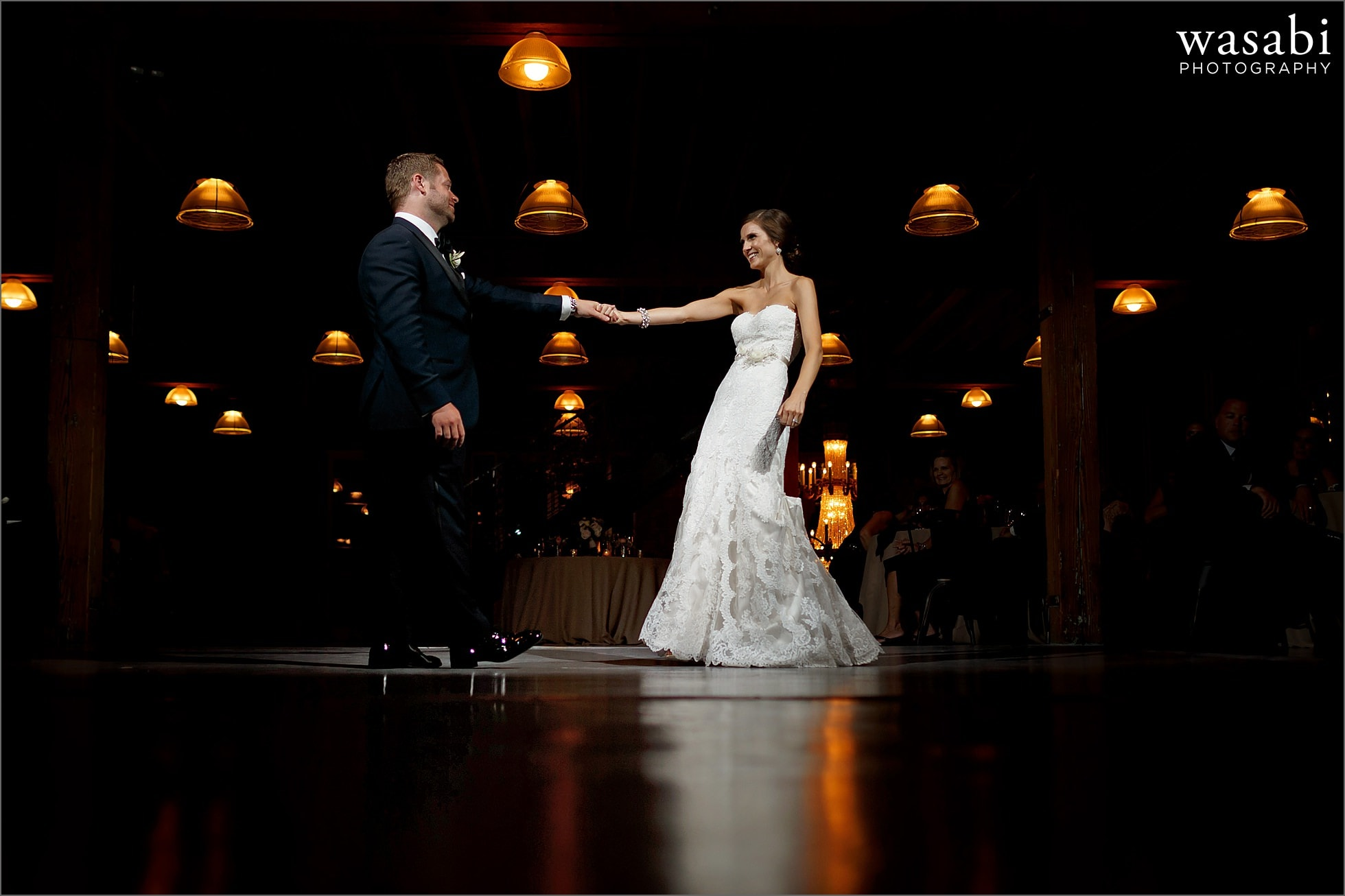first dances during reception at architectural artifacts wedding chicago