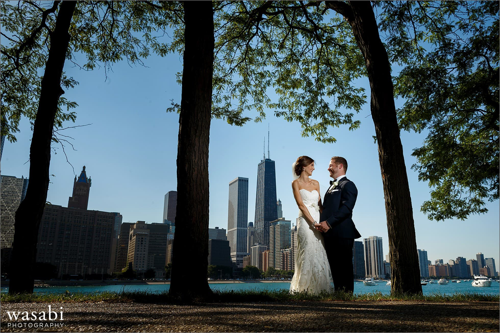 wedding portraits at olive park chicago