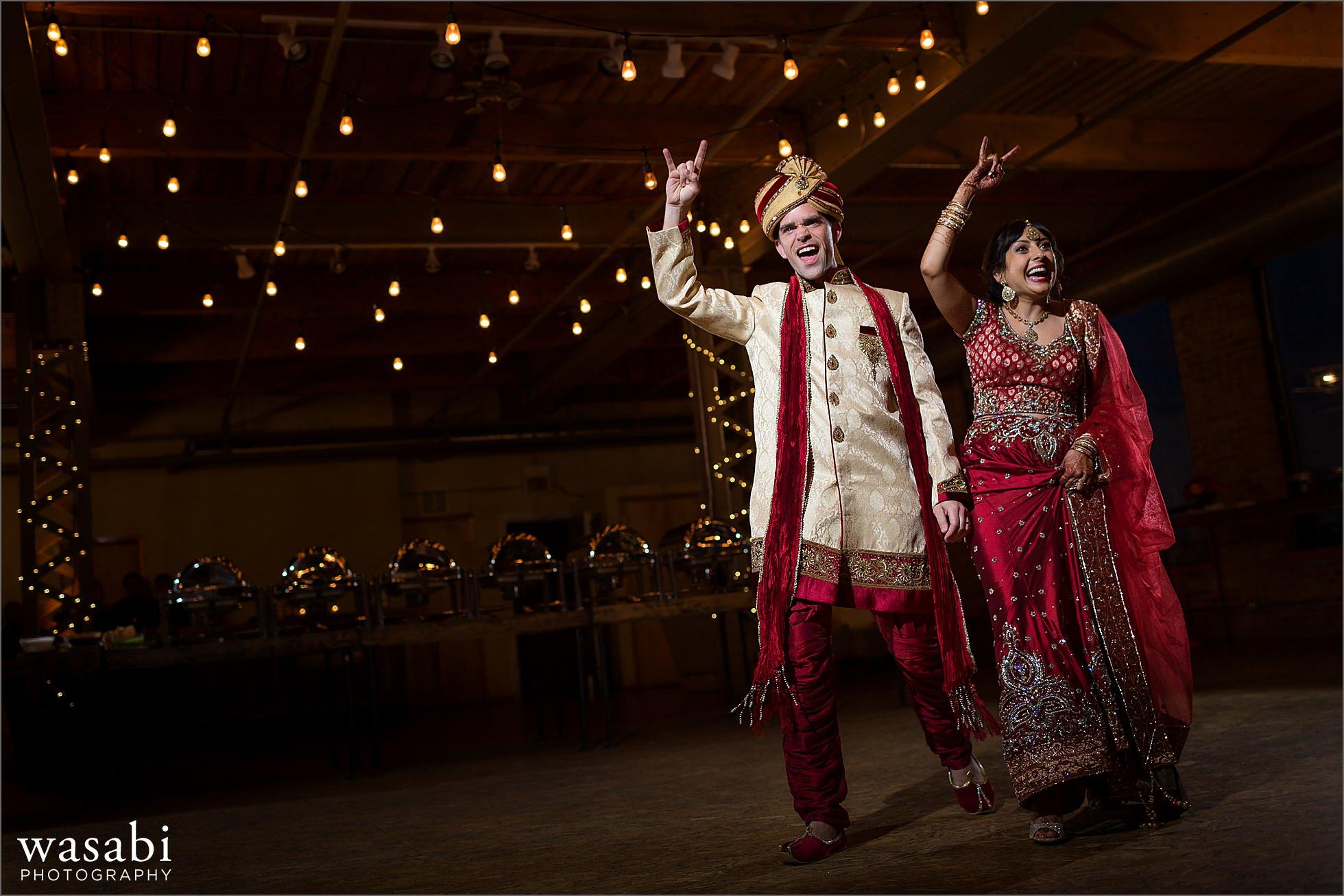 bride groom rockstar entrance
