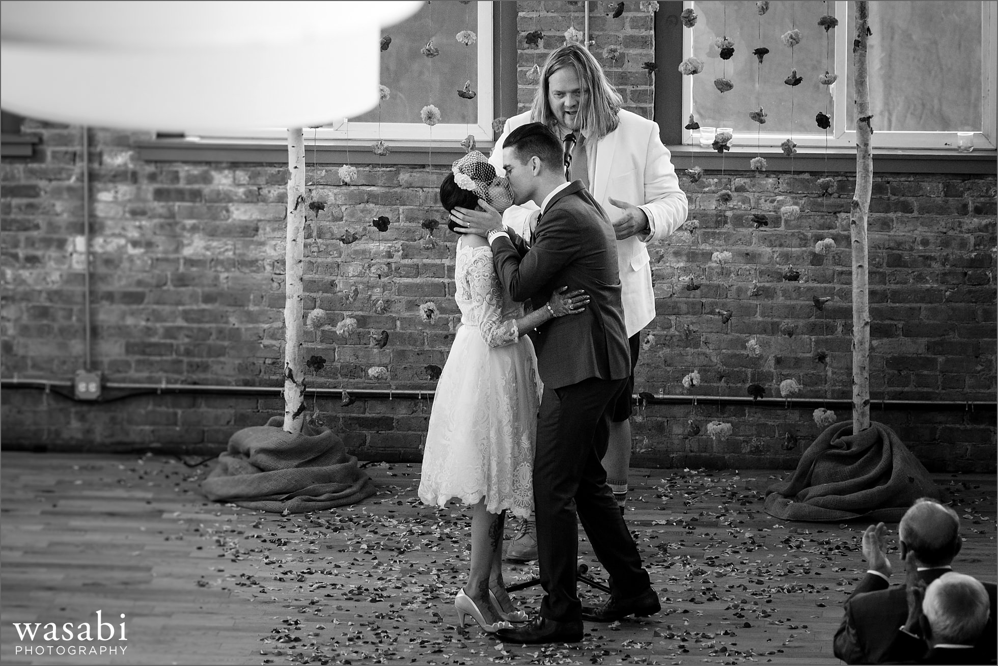 city view loft wedding photos