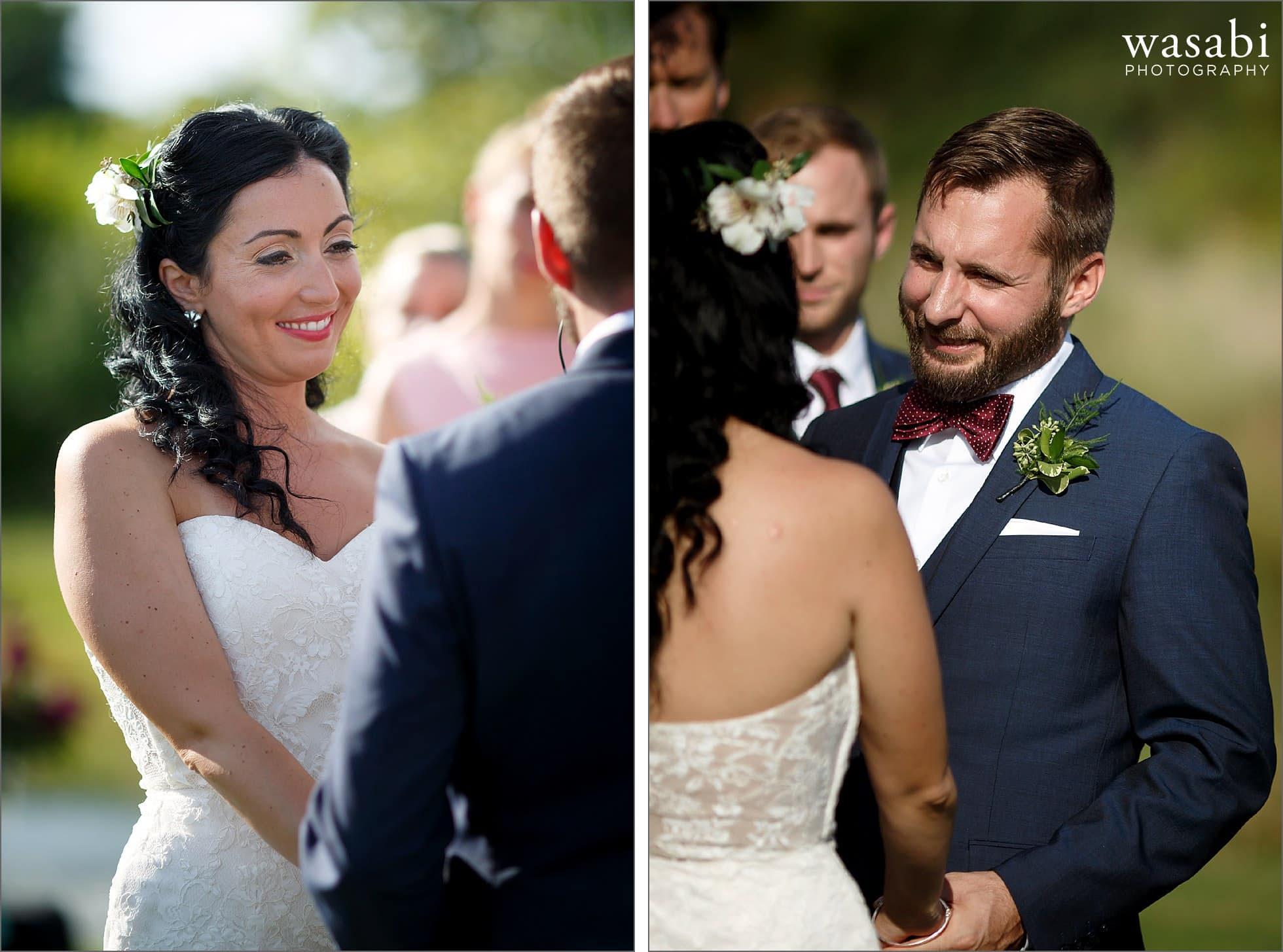 bride and groom willow harbor vineyards wedding photos
