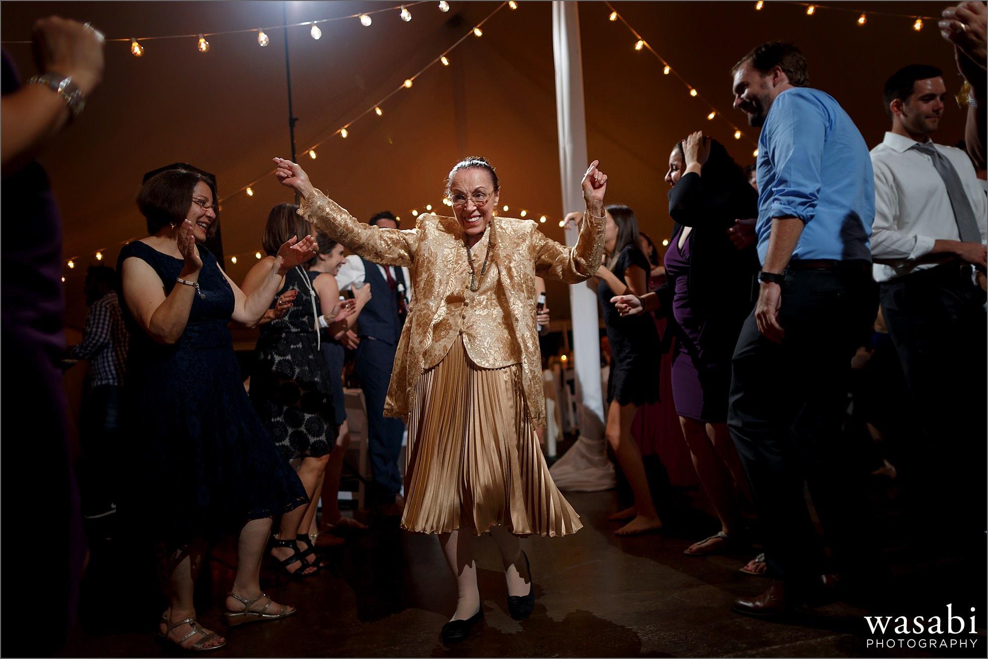 epic grandma dancing wedding photo