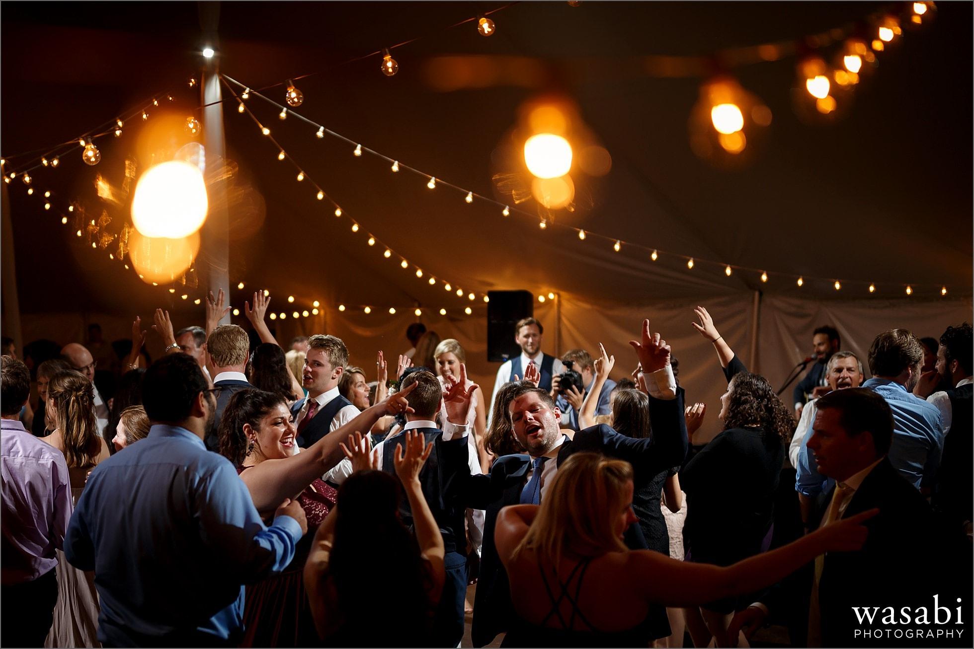 tent wedding reception dancing photos