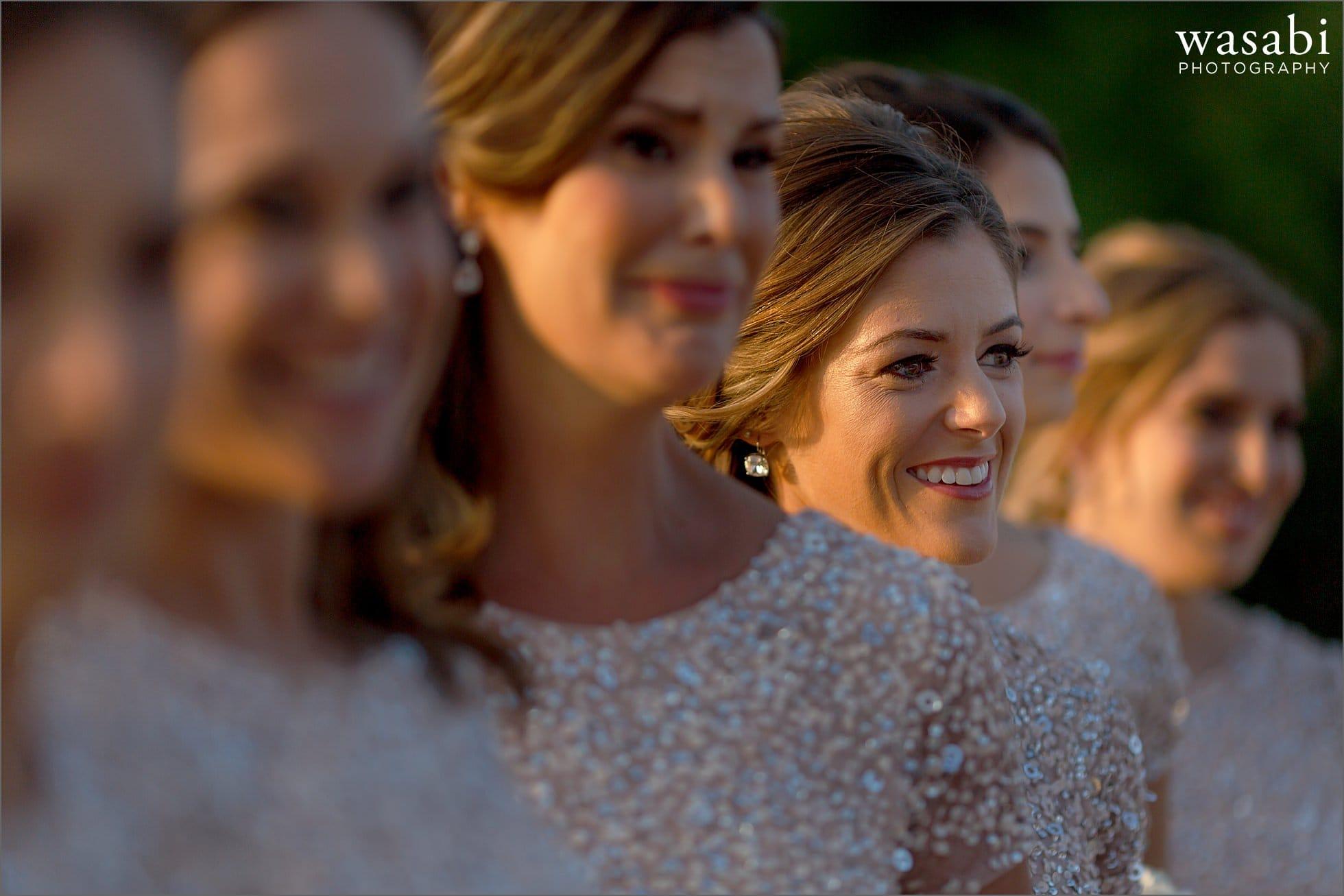 bridesmaids in a row photo