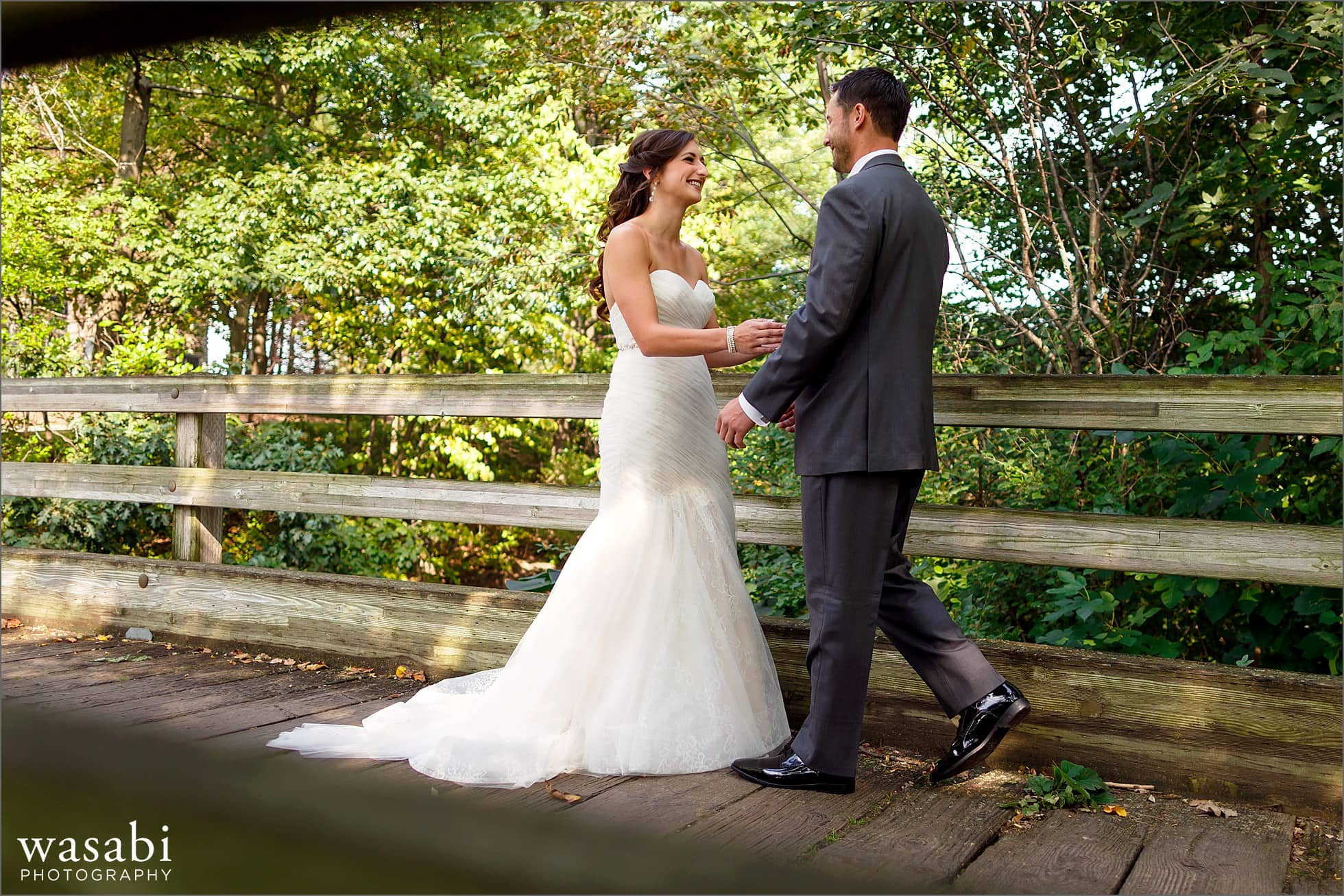 ivanhoe country club wedding first look photos