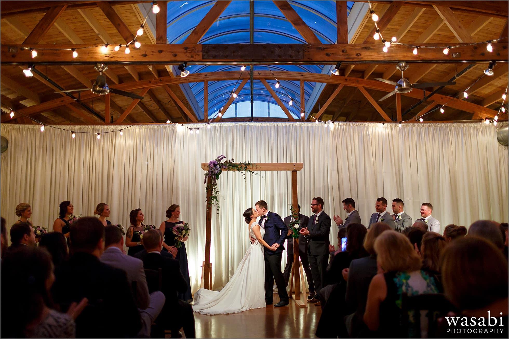 loft on lake wedding photos
