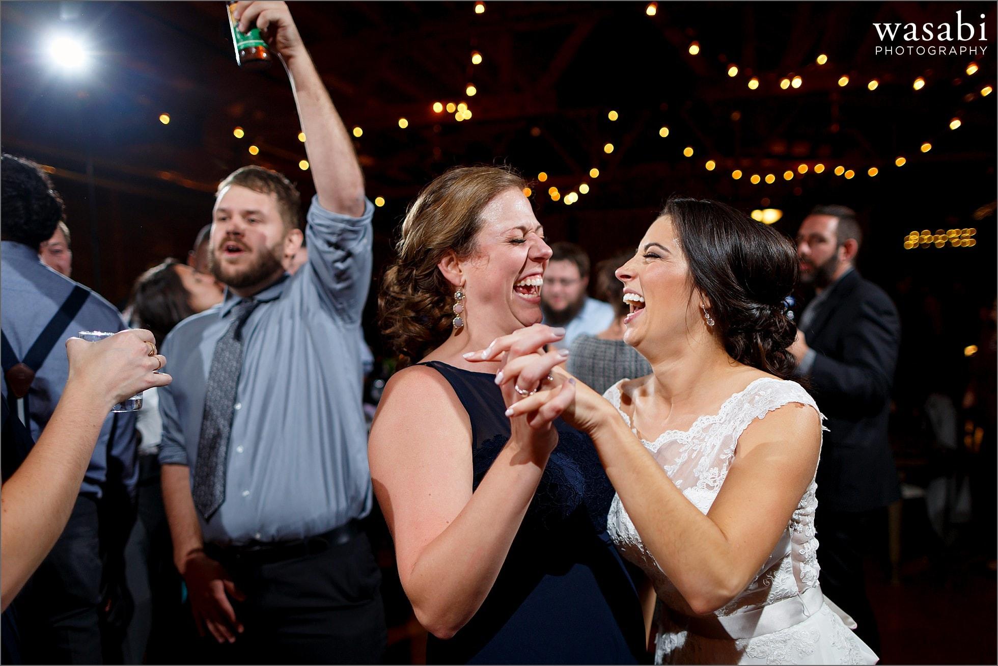 loft on lake reception dancing wedding photos