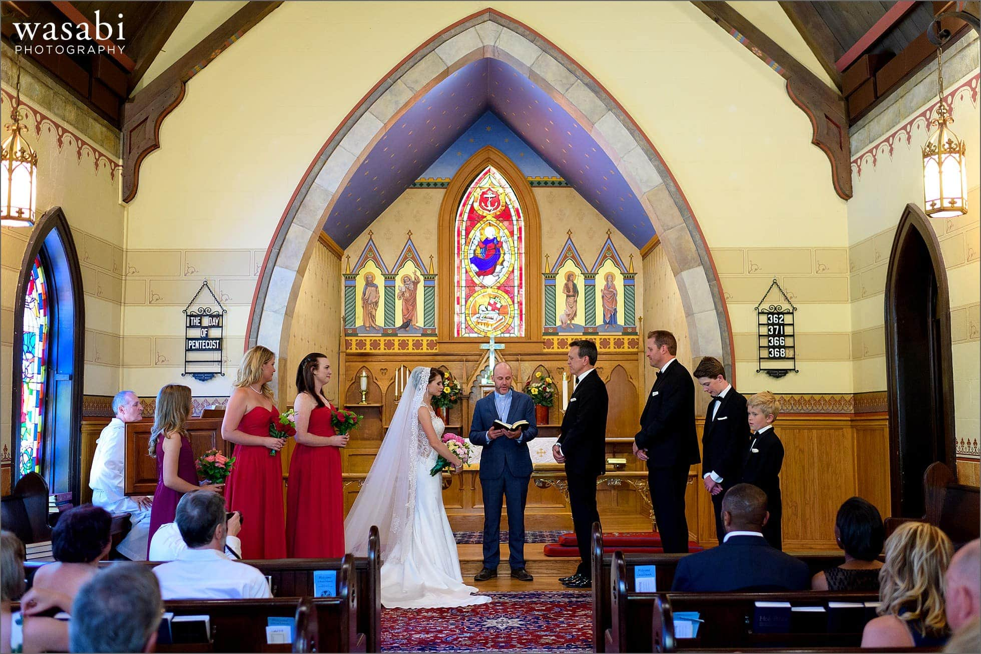wedding ceremony at Calvary Church in downtown Golden Colorado
