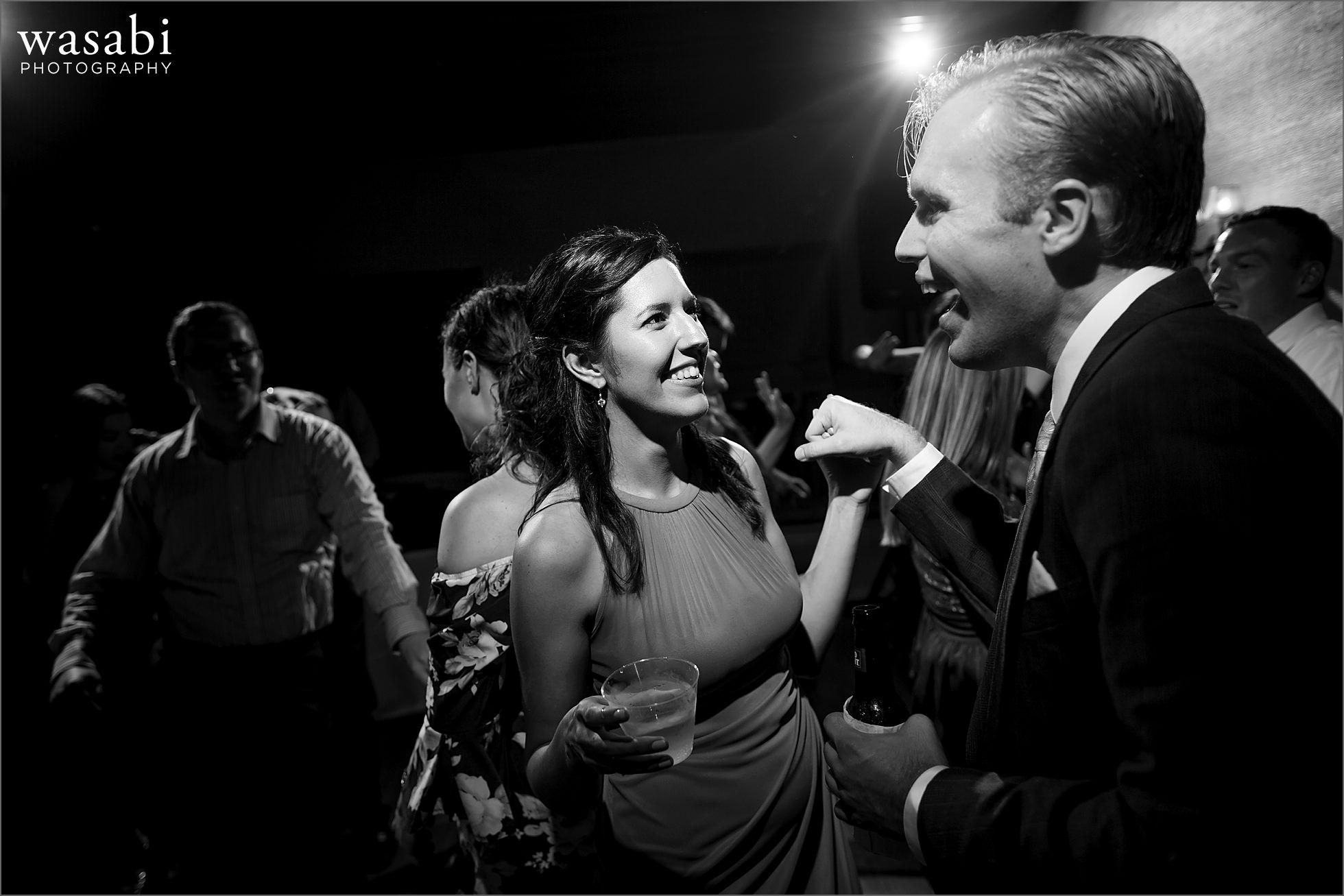 wedding guests dance at Cheney Mansion wedding reception photos