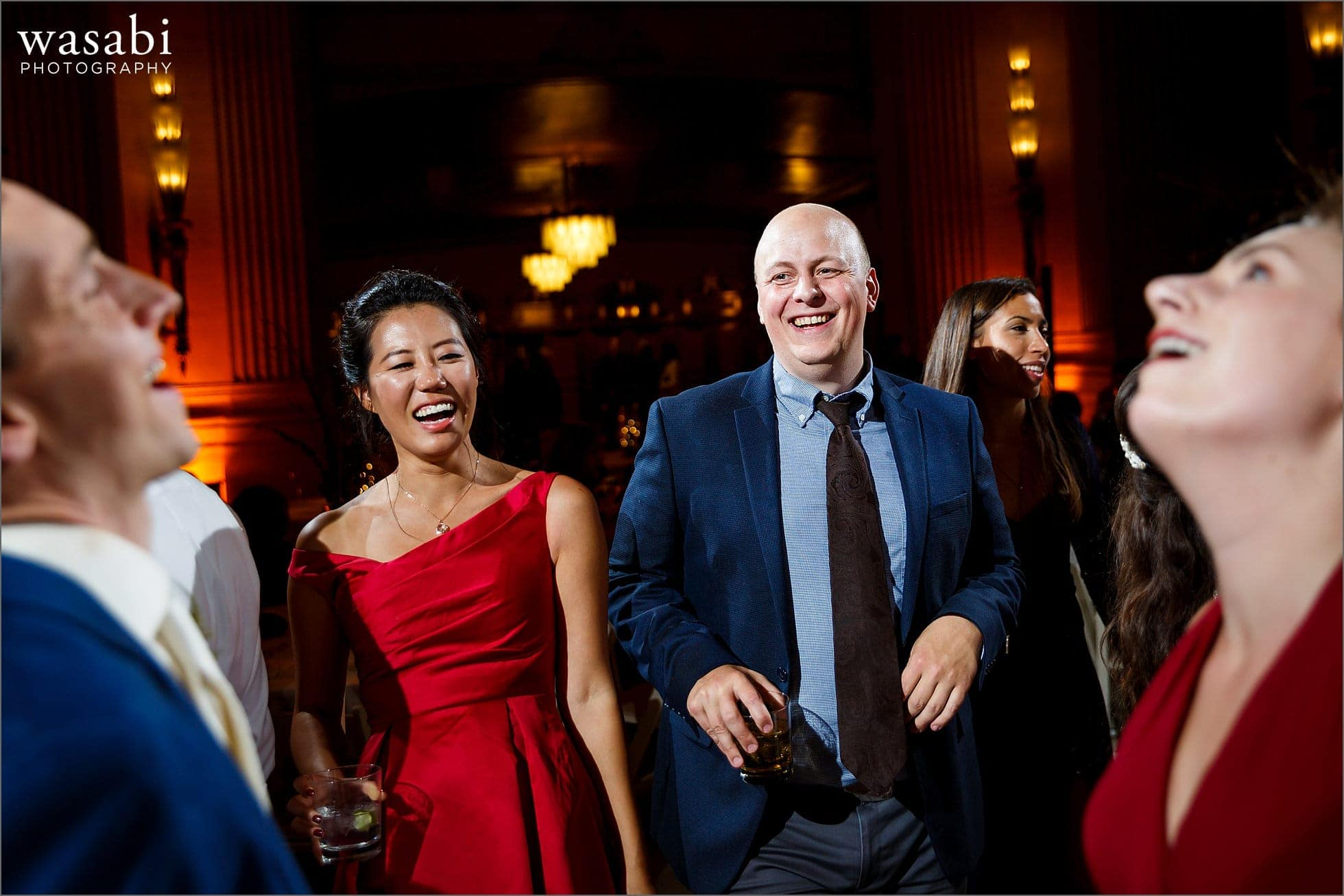 guests dancing during Lyric Opera of Chicago wedding reception