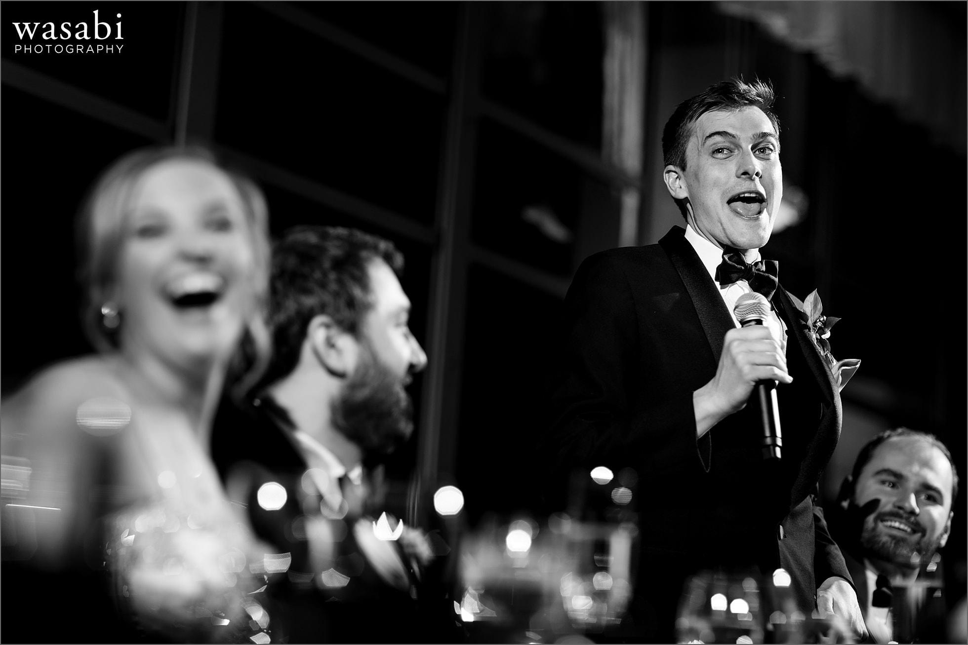 best man toast at Chicago Marriott Lincolnshire Resort