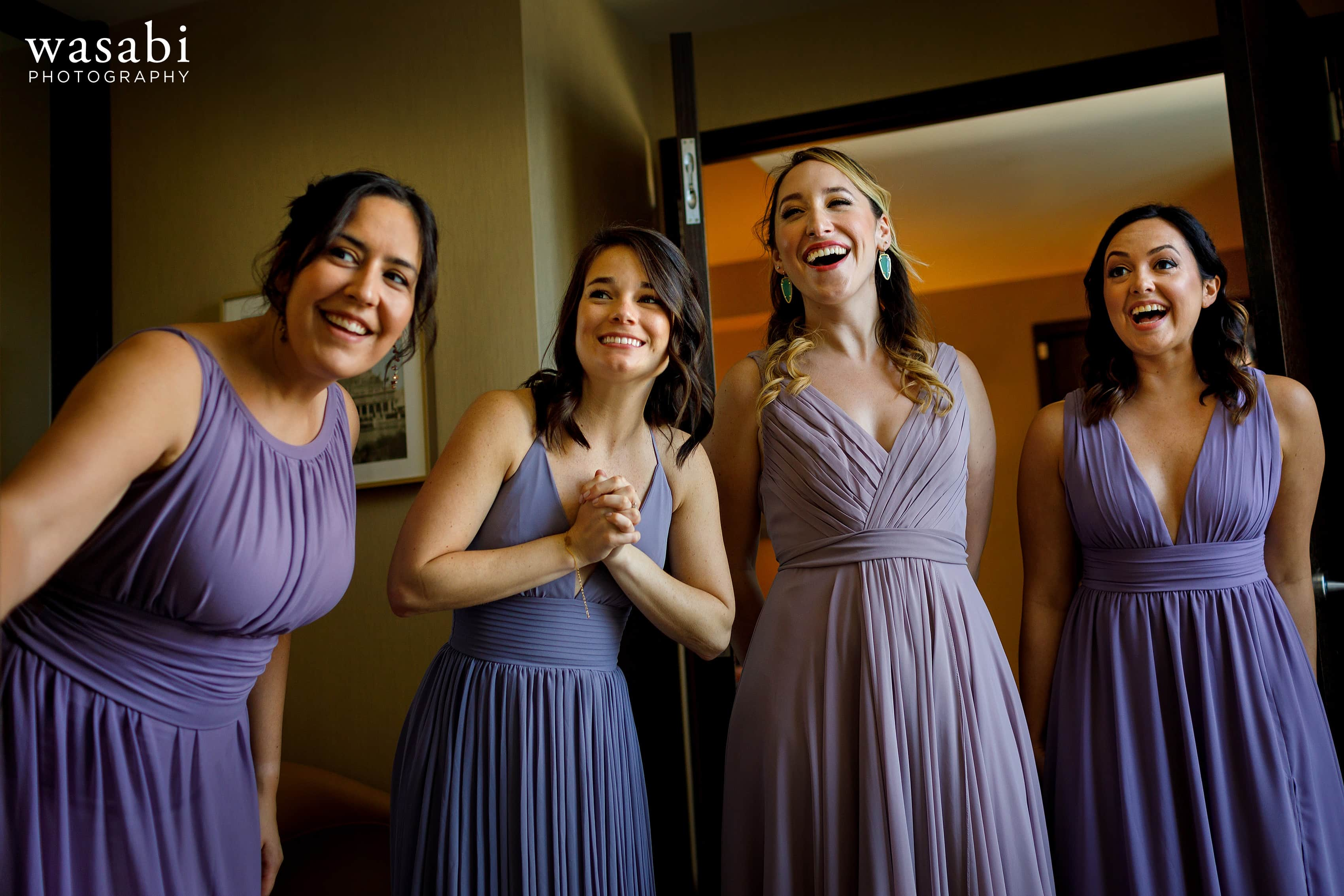 Bridesmaids-react-to-seeing-Zoe-in-her-wedding-dress-while-getting-ready-at-Hotel-Palomar-in-Chicago-07