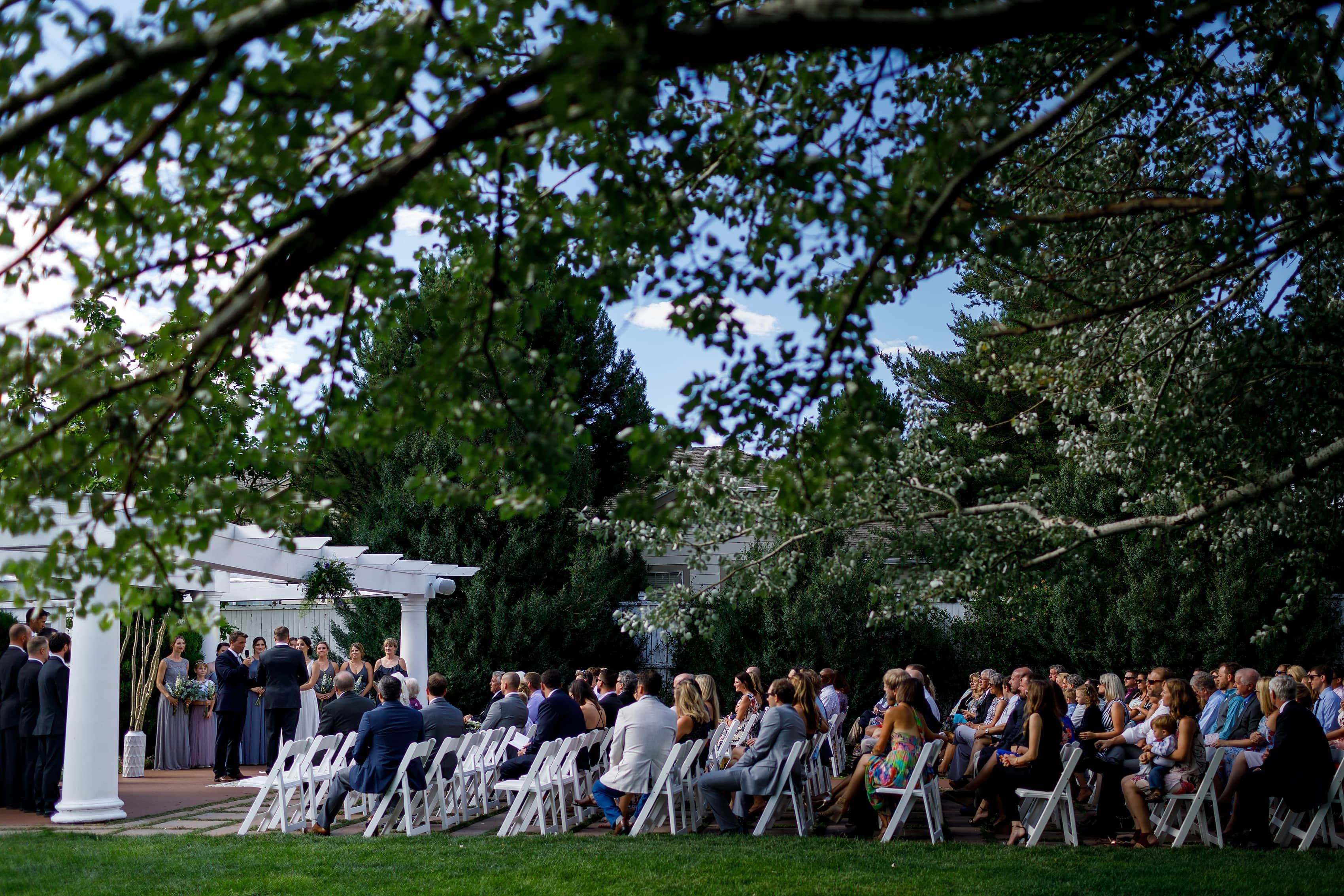 outdoor wedding ceremony at Lionsgate Event Center