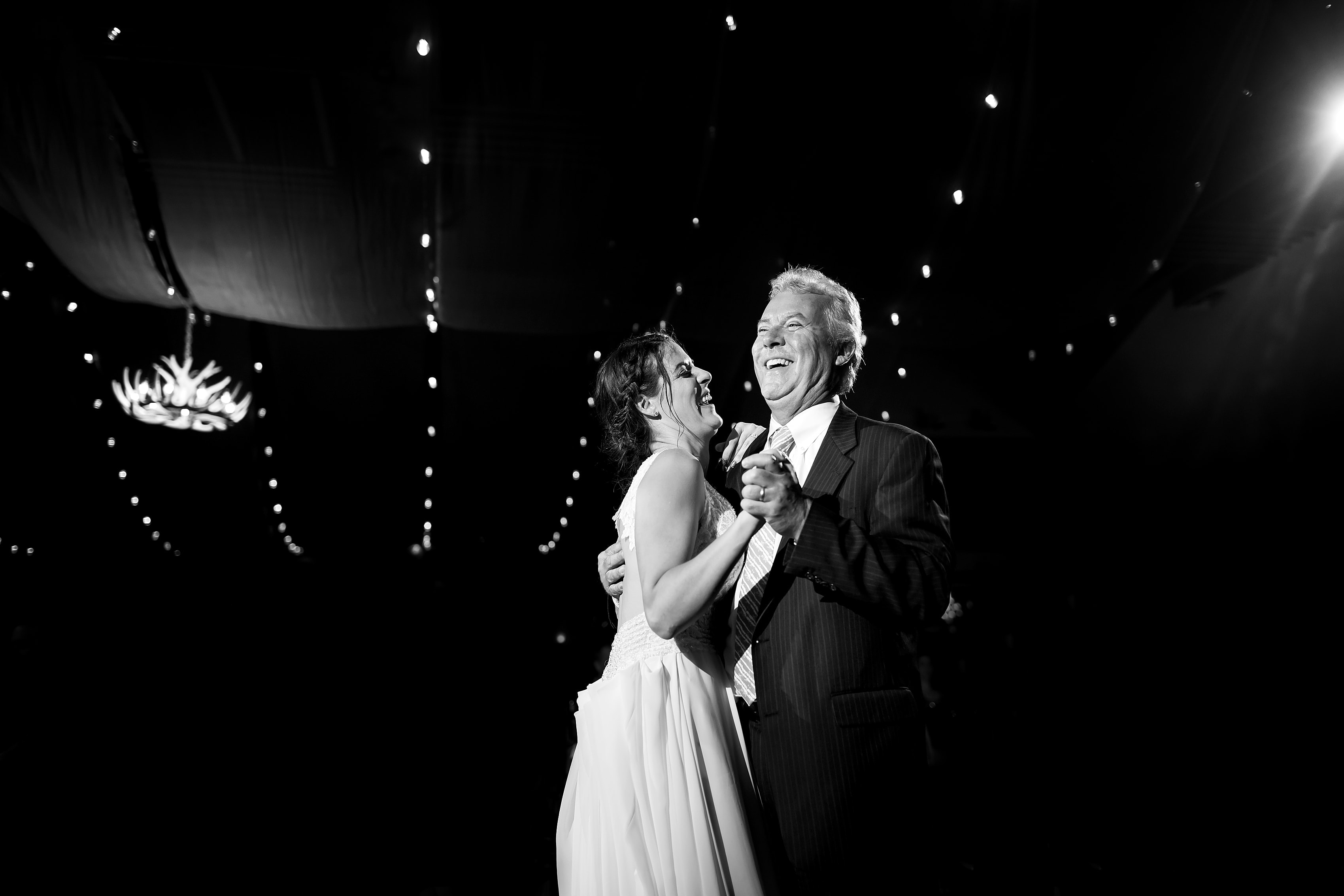 father daughter dance during Lionsgate Event Center wedding reception