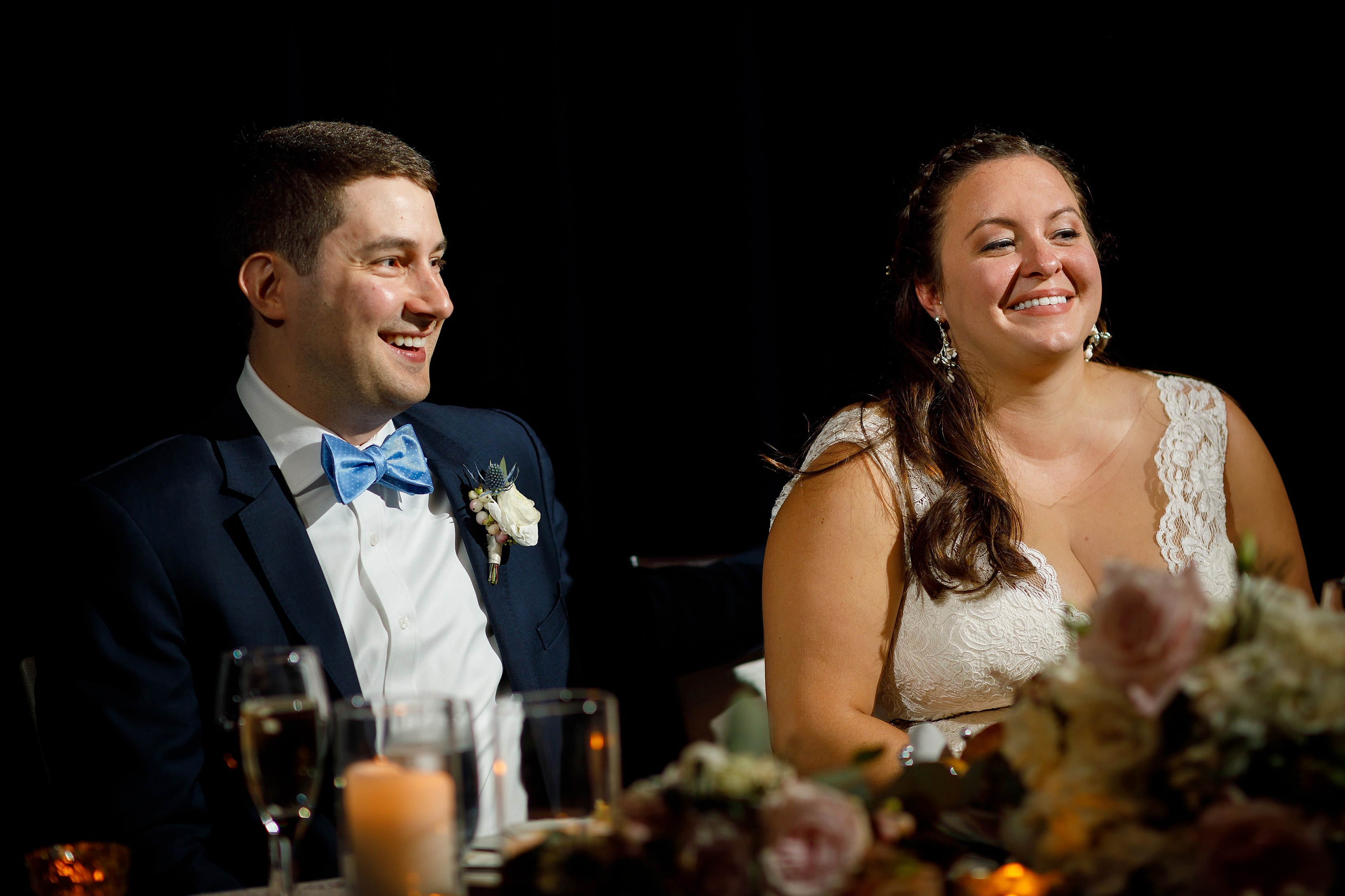 toasts during wedding reception at Kimpton Gray Hotel in downtown Chicago