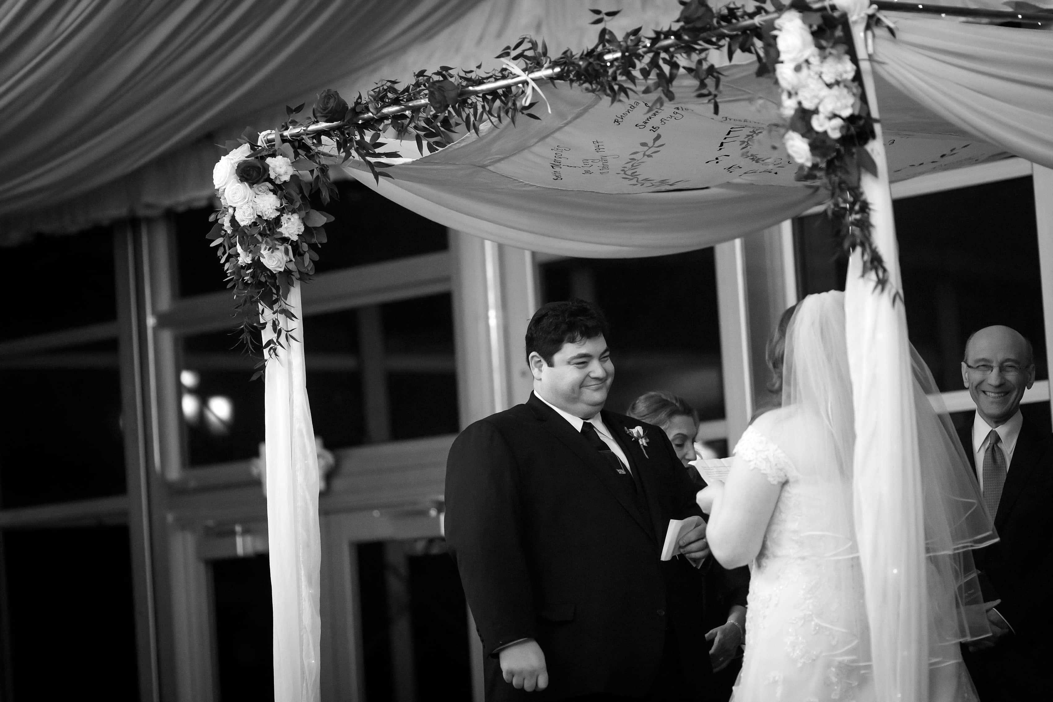 wedding ceremony at Lincolnshire Marriott Resort