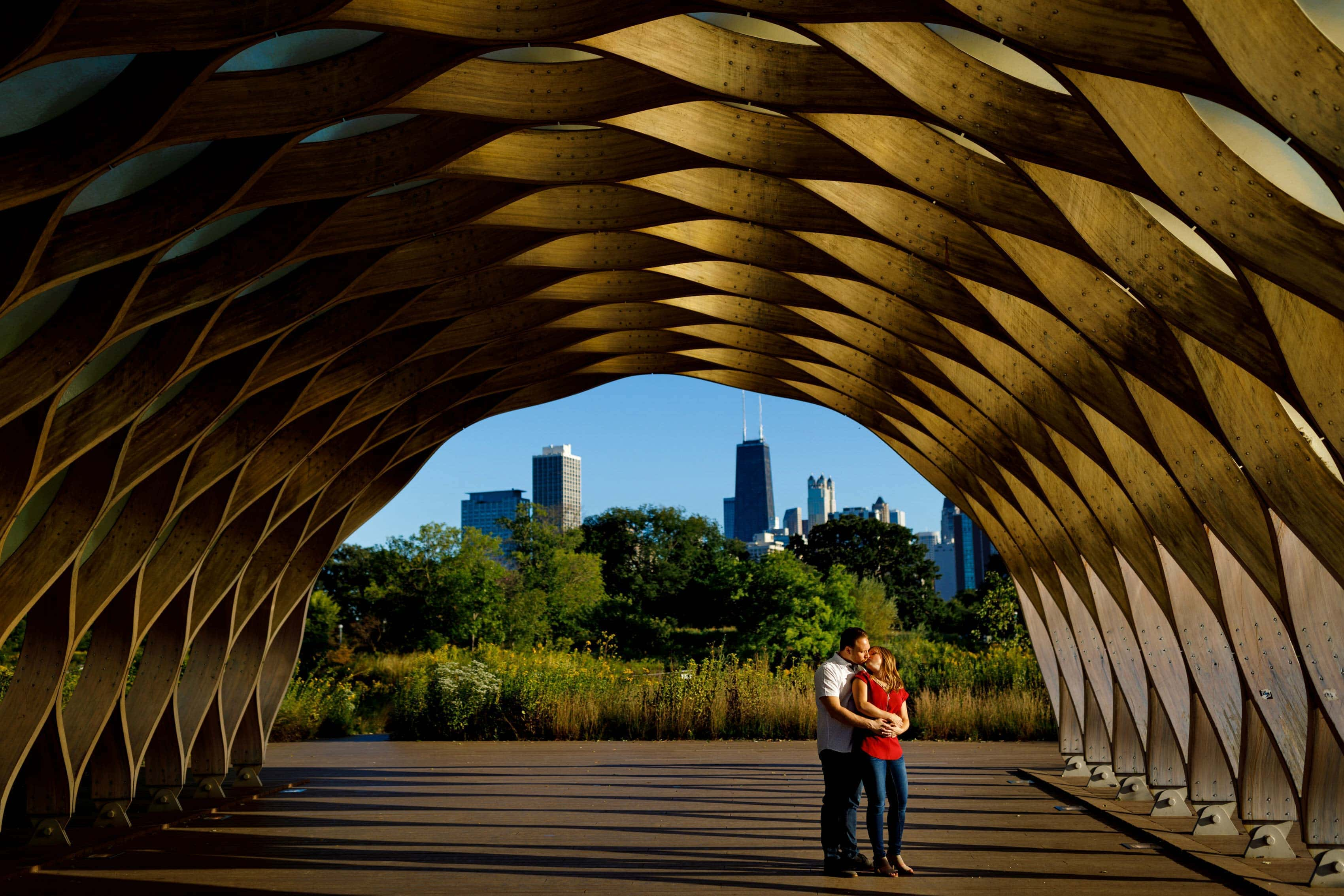 Lincoln Park Honeycomb Engagement Photos: Jessica & Jared