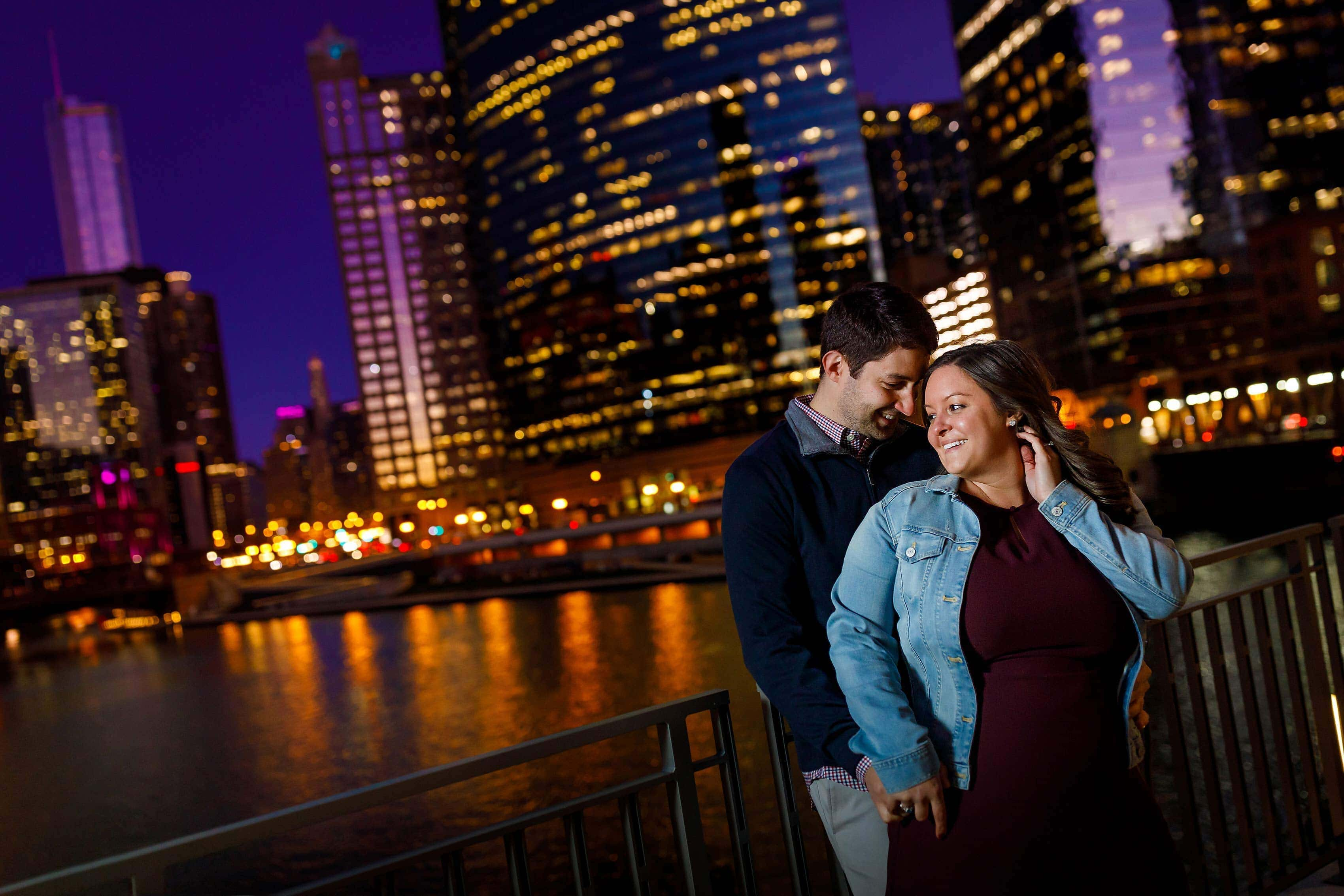 Colorful Fall Chicago Engagement Photos: Andrea & Andrew