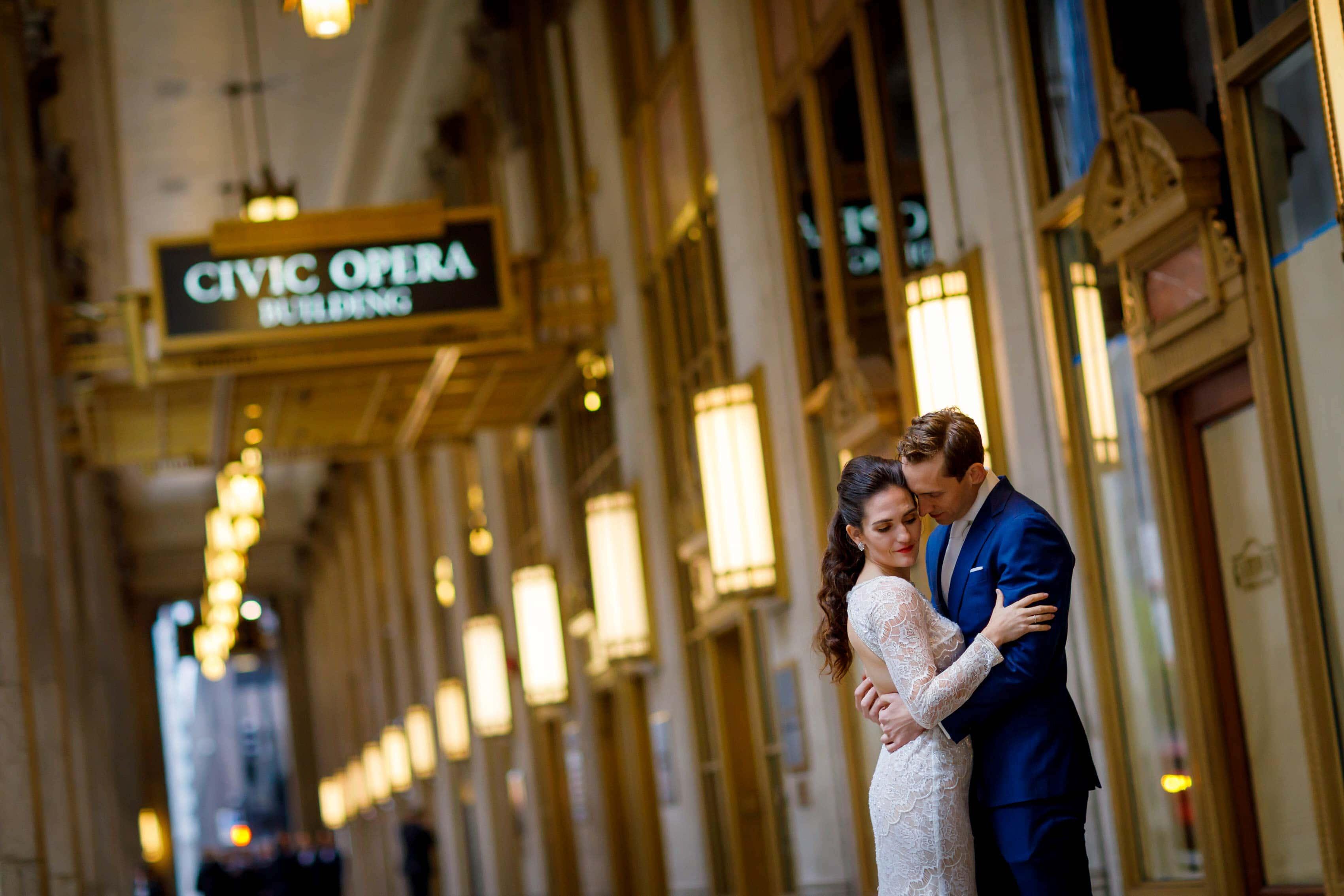 Lyric Opera House Wedding Photos: Kelly & Elliott