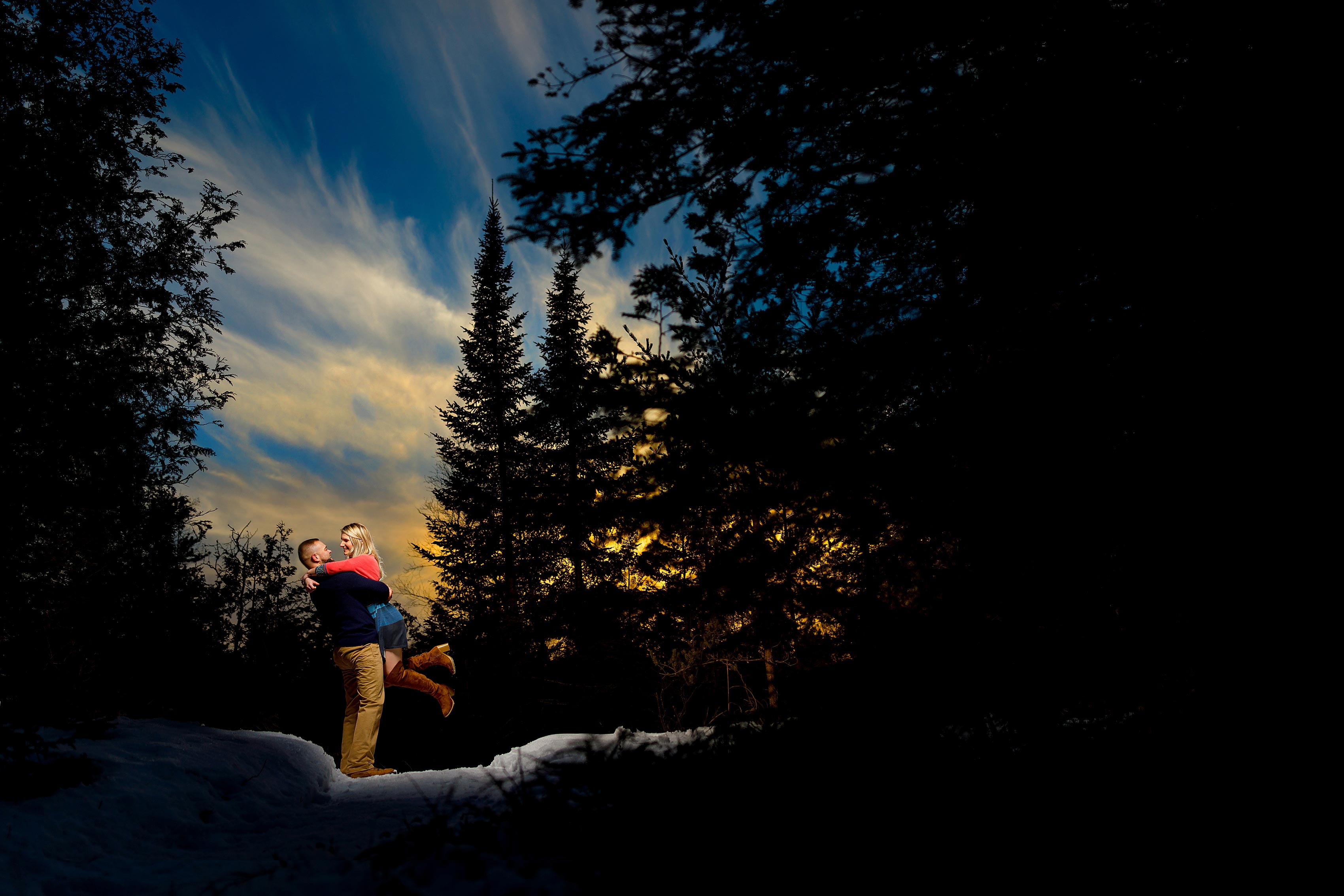 Northern Michigan Winter Engagement Photos: Melissa & Dirk