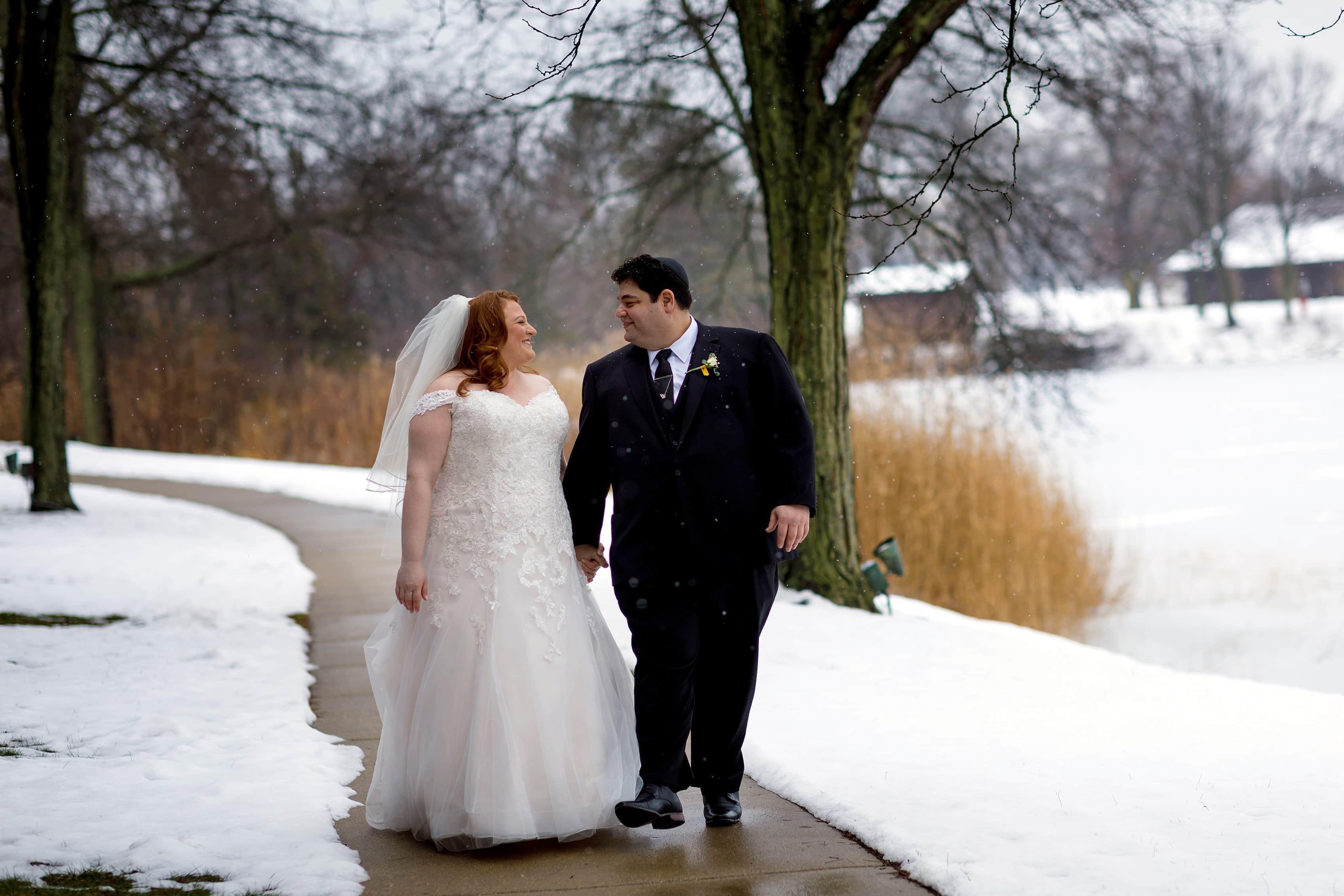 Winter Wedding at Lincolnshire Marriott Resort: Erin & Michael